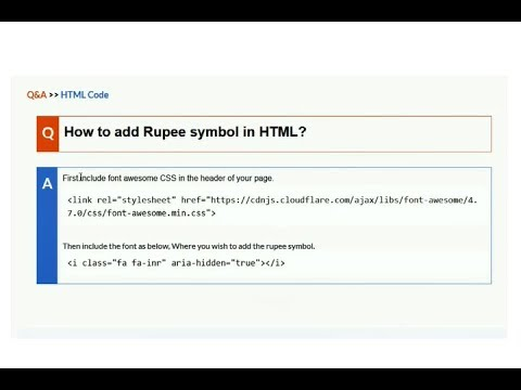 How To Add Rupee Symbol In HTML?