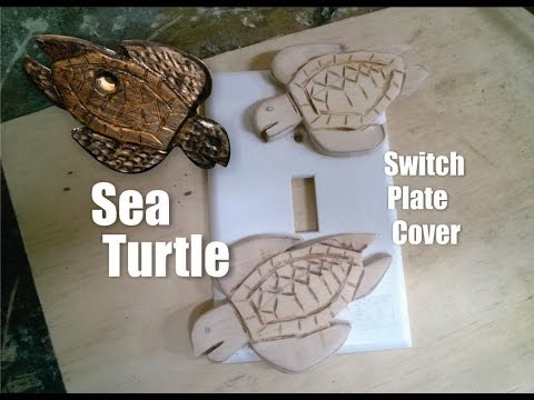 DIY Sea Turtle Nautical Switch Plate Cover