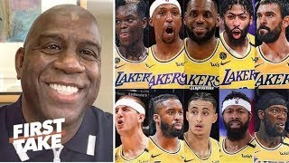 """Magic Johnson tells Stephen A. """"Lakers are too deep at every position and on their way to a repeat!"""""""