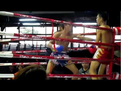 Lumpini Thai Boxing Stadium Bangkok body blows KO
