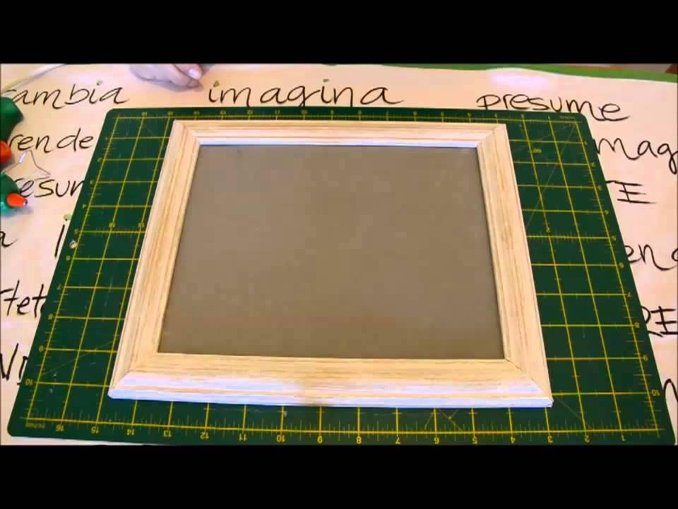 reciclar marco de madera - YouTube