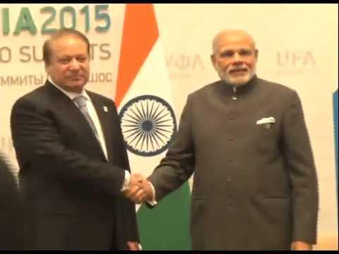 PM Modi meets Nawaz Sharif in Ufa