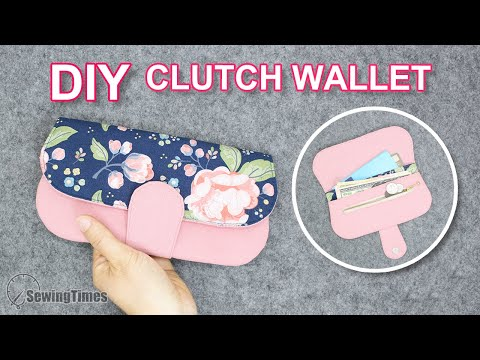 DIY SIMPLE CLUTCH WALLET | Easy to make Purse Tutorial & Sewing Pattern [sewingtimes]
