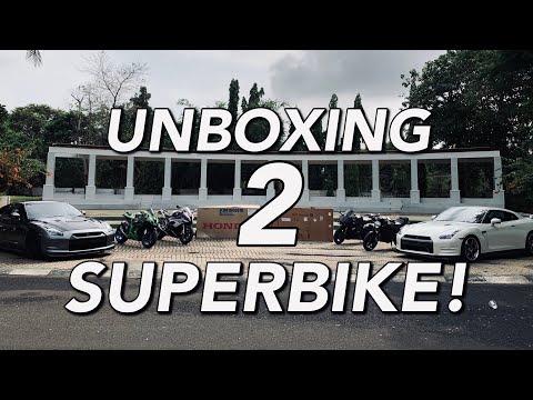 Detik Detik Unboxing BMW S1000RR 2019 CBR 1000RR SP1 2019!-#101 UNBOXING 2 SUPERBIKE LANGKA DI INDO!
