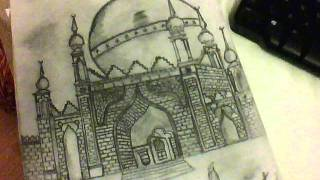 Amazing Mosque Sketch MUST SEE !