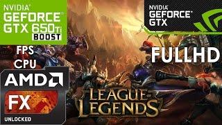 League of Legends - GTX 650 TI BOOST - FX6300 - 1080p(LEIA A DESCRIÇÃO-- GAMEPLAY:League of Legends Gráfico do jogo: Especificado em vídeo Hardware: Processador:FX-6300 3.5Ghz Memória RAM:8GB ..., 2015-06-07T22:31:24.000Z)
