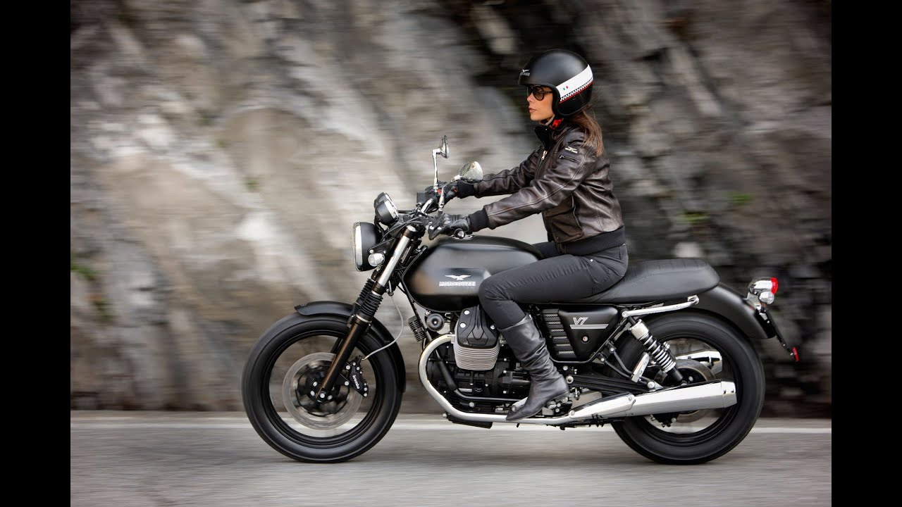 moto guzzi v7 ii stone ride norway 2015 youtube. Black Bedroom Furniture Sets. Home Design Ideas