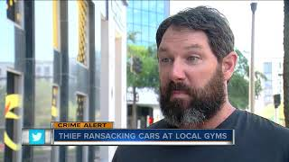 Thief ransacking cars at local gyms