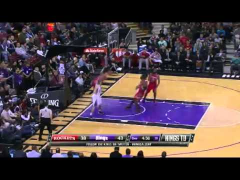 Jeremy Lin Block and Dunk over Francisco García