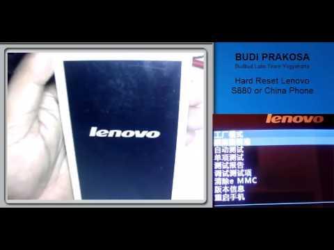 Factory Reset LENOVO S880I - HardReset info
