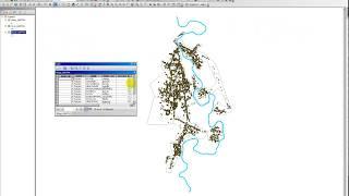ການຕັດຂອບເຂດບ້ານ ແລະ  ຈຸດພິກັດ ໂດຍໃຊ້ຄຳສັງ Clip ໃນ GIS