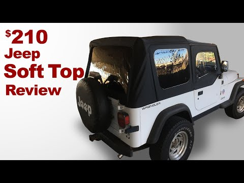 Cheap Jeep Soft Top! How To Install (Plus Review).