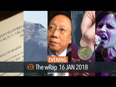 Constitution amendments, Mayon Volcano, The Cranberries  | Evening wRap