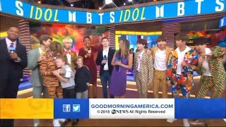 [FULL] BTS on Good Morning America | Jimin hug lil girl