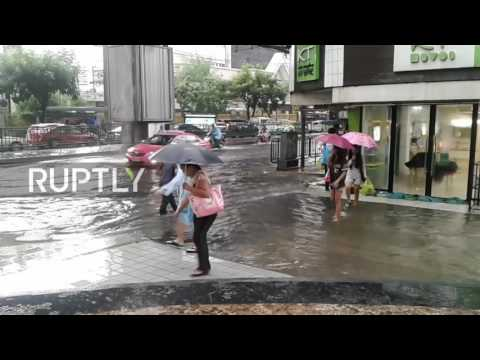 Thailand: Flood waters rise in Bangkok following heavy rain