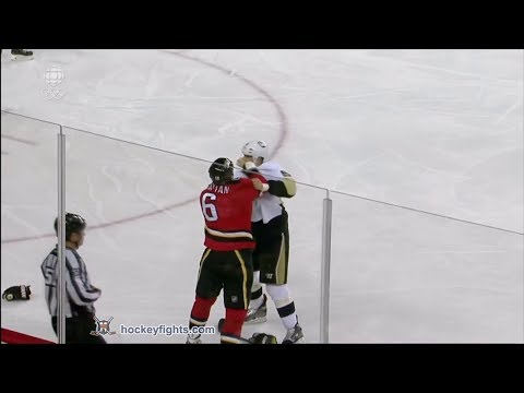 Deryk Engelland vs Brian McGrattan Jan 11, 2014