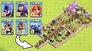 Who Can Survive This Difficult Trap on COC? Trap VS Troops #29