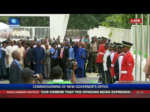 Commissioning Of Ekiti State High Court & Governor's Office Pt 8