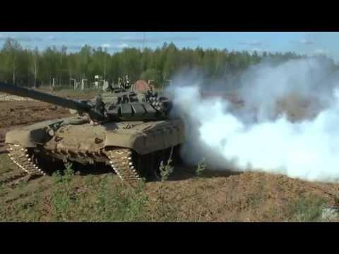 Танк Т-72 ОБАЛДЕННО поставил Дымовую завесу. Полигон Алабино