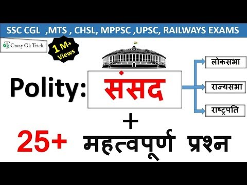 Polity Science : संसद (Parliament) | Polity GK | Indian Constitution Quiz