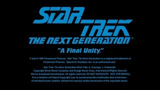 Star Trek The Next Generation : A Final Unity - video game non-interactive demo ( PC MS-DOS, 1994)
