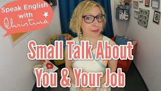 Talking about your job in English | Learn English speaking