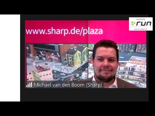 run präsentiert: Michael van den Boom von Sharp - Produktportfolio von Sharp