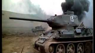 Russian Tanks T 34 vs German tanks Tiger and Panther - World War Two tank Battles