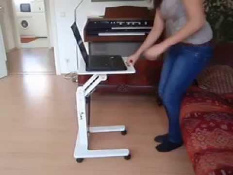 laptoptisch der laptop butler youtube. Black Bedroom Furniture Sets. Home Design Ideas