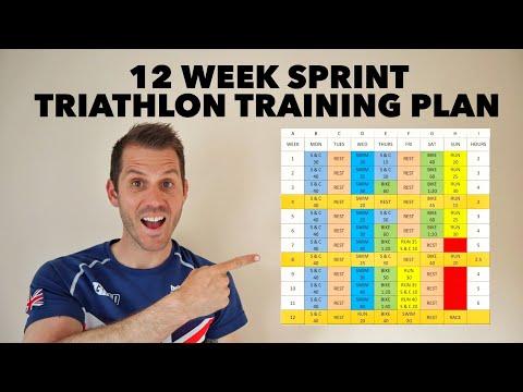 12 week sprint triathlon training plan