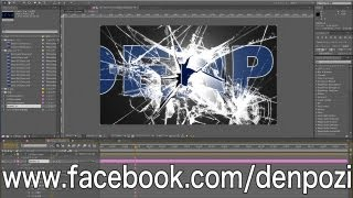 After Effects実践講座1 割れたガラス(AfterEffects Tutorial Broken Glass)