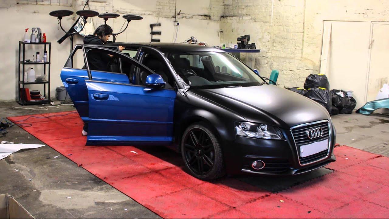 Audi A3 3m Satin Black Wrap G Starwraps Youtube