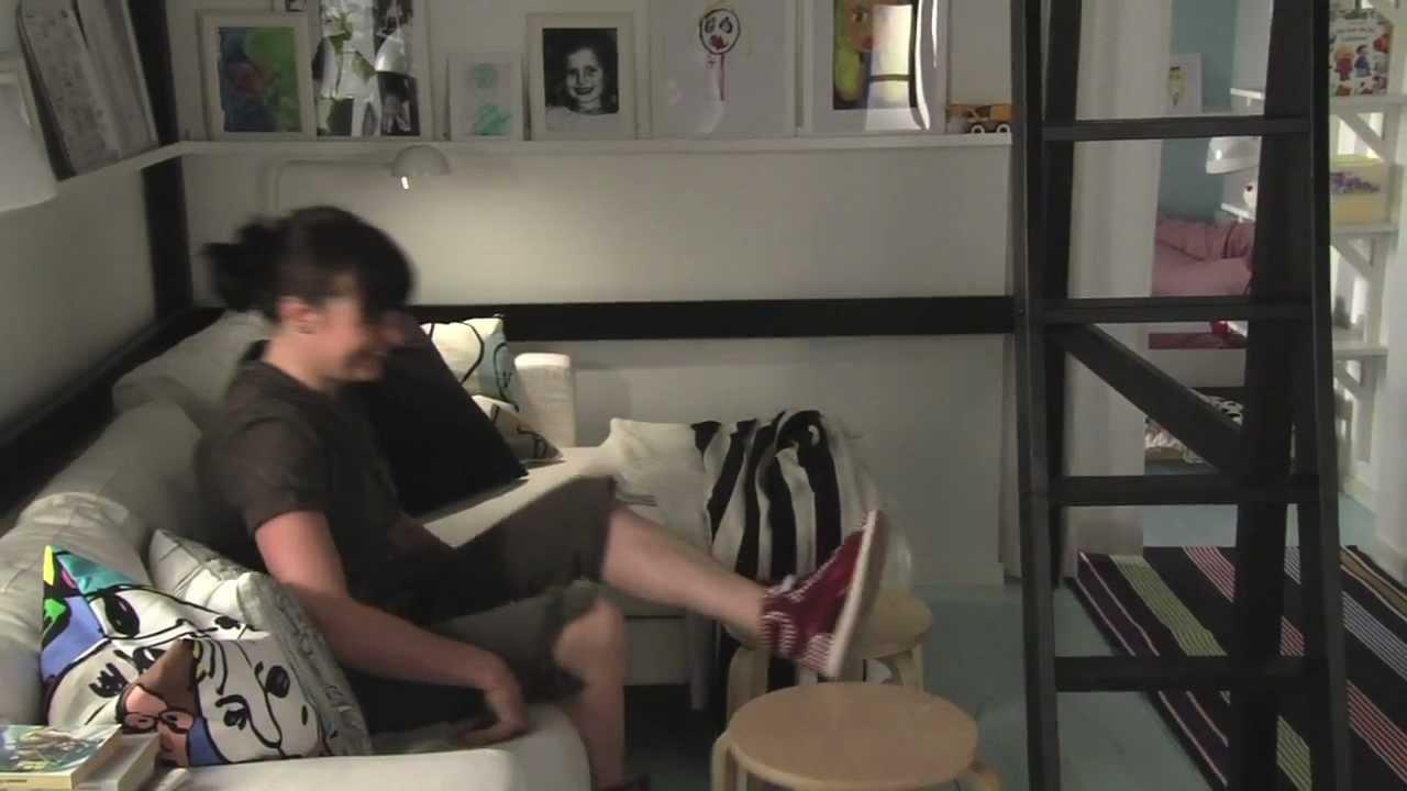 IKEA für kleine Räume: 11 m² Wohnzimmer für alle(s) - YouTube