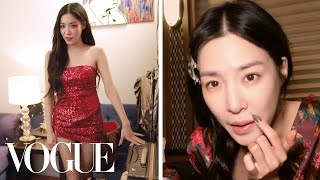 Tiffany Young's Tour Bus Travel Routine | On the Go | Vogue