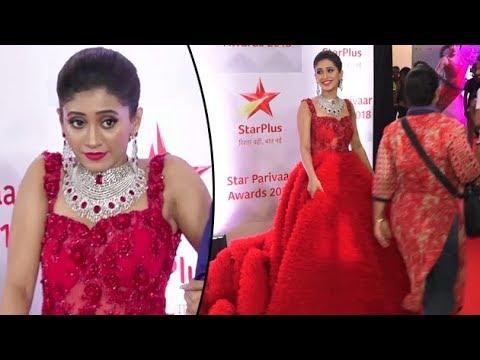 Shivangi Joshi Looks Uncomfortable In Her 50Kg Gown