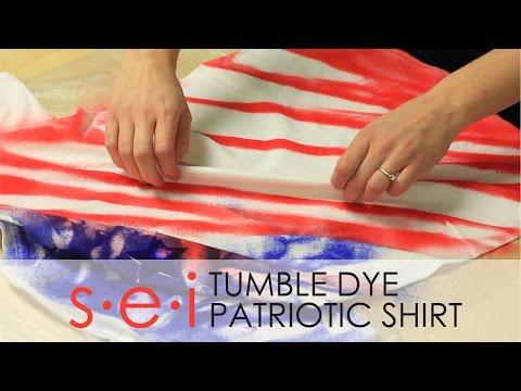 DIY Patriotic Tie Dye Shirt Tutorial : SEI Tumble Dye
