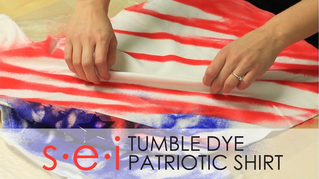 569f12ce2b40 DIY Patriotic Tie Dye Shirt Tutorial   SEI Tumble Dye - YouTube