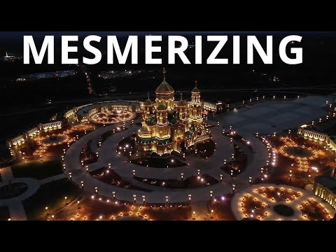 BREATHTAKING: Watch Night Footage Of Russia's Massive Orthodox Church Built For Russian Armed Forces