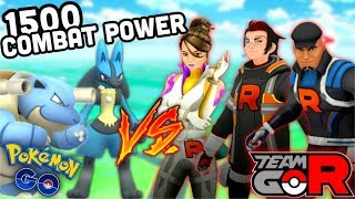 INSANE! 1500 COMBAT POWER POKEMON VS ROCKET BOSSES IN POKEMON GO | 1500 Challenge