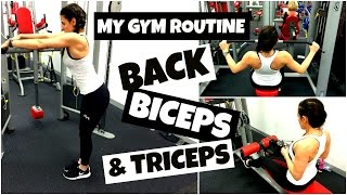 GYM EXERCISES FOR TONED ARMS | Back, Biceps and Triceps