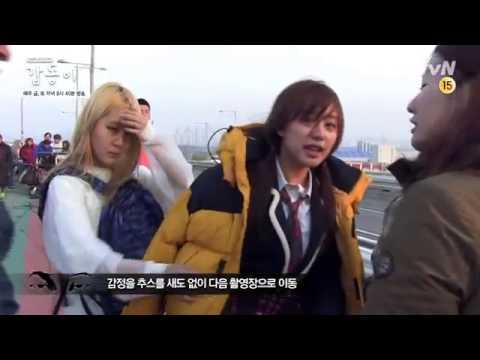 KIM JI WON nhảy cầu trong GAP DONG, Hau truong G
