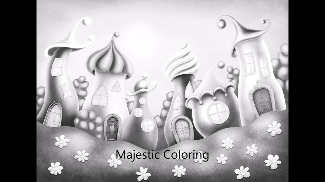 fantasy world grayscale photo coloring book for adults - Fantasy Coloring Books For Adults