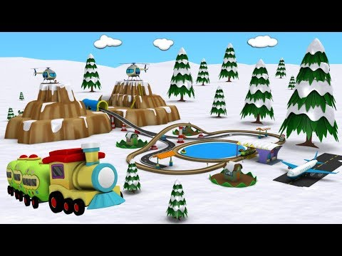Christmas - Trains for kids -  Trains for Children - Toy Factory - Choo Choo Train - Train