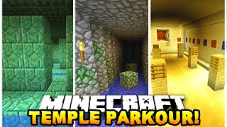 Minecraft TEMPLE PARKOUR RACE! (Epic Challenge Map) - w/ Preston & Chocobo