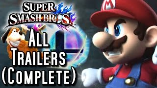 Super Smash Bros Wii U ALL Trailers (Complete)