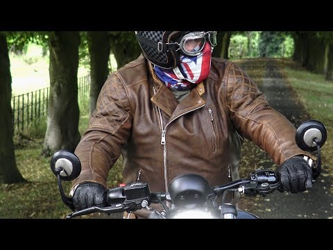 Triumph Bonneville Bobber Black & GOLDTOP England Classic Leather Bobber Jacket!