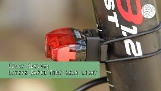 Black Cycling CatEye CA475RAPMIN Rapid Mini Rear Lights and Reflectors