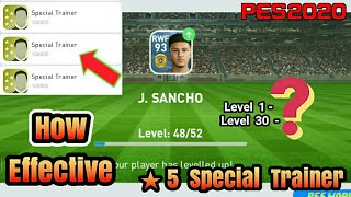 How Effective is 5 Star (100000) Special Trainer in PES 2020 MOBILE
