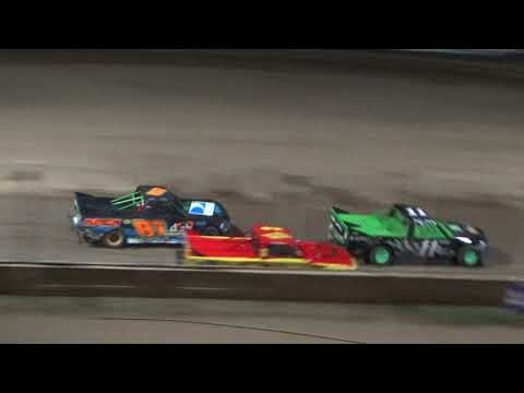 Pro Truck Feature Race at Crystal Motor Speedway, Michigan on 08-19-2017.