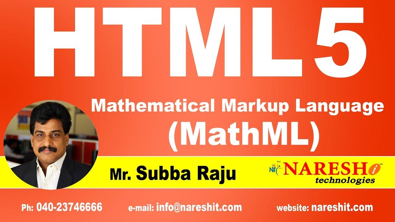 Mathematical Markup Language (...